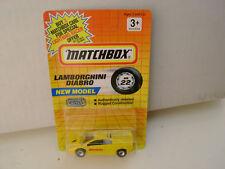 1991 MATCHBOX SUPERFAST MB 22 YELLOW LAMBORGHINI DIABLO NEW ON CARD