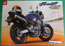 HONDA HORNET 900 MOTO MOTORCYCLE ADVERTISING PUBBLICITA BROCHURE DEPLIANT