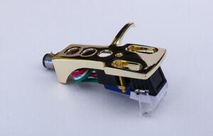 Gold headshell + cartridge fits Marantz 6300, 6100, 6200, 6025, TT 8001, 6370Q