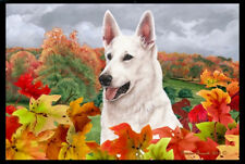 Indoor/Outdoor Fall Floor Mat - White German Shepherd 40195