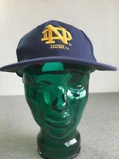 NOTRE DAME Hat 90s Sports Speciality Snapback Vtg ND College Cap Football Irish