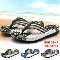 Summer Men Camouflage Flip Flops Casual Beach Slippers Shoes Soft Thong Sandals
