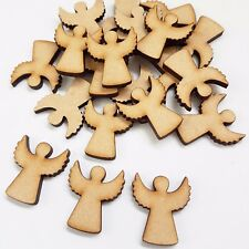 25x WOODEN MDF CHRISTMAS ANGELS Craft Shapes TAGS EMBELLISHMENTS XMAS blank 25mm