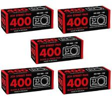 5 x JCH STREET PAN 400 ISO Black & White B&W 120 Medium Format Film StreetPan