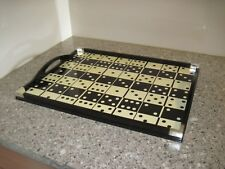 "Oscar de la renta For Lunt Lacquered Wood ""Dominoes"" Serving Tray -19&1/2"""