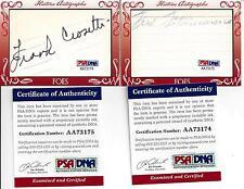 Historic  Friends & Foes Crosetti & Fitsimmons  Autos PSA/DNA Certified