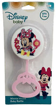 💝NIP New Disney Minnie Mouse BPA FREE Baby Rattle Pink White Babies First Toy