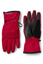 Lands' End Red & Black Winter Snow Ski Gloves EZTouch 4 Phone LARGE = 9-9.5 23cm
