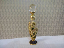 Empty Glass Perfume Scent Bottle Floral Design