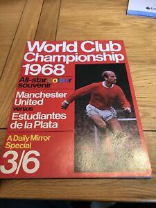 Man Utd v Estudiantes de la Plata Souvenir Brochure. 1968.