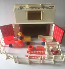 Vintage Fisher Price Little People Farm Barn Silo Lot Fence Animals Tractor 1967