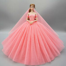 Pink Wedding Dress for 11.5inch Doll Clothes Evening Dresses Party Gown Outfits