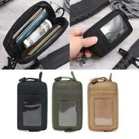 1pc Tactical Waterproof EDC Wallet Coin ID Card Bag Key Pocket Money Waist Pouch