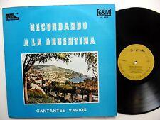 RECORDANDO A LA ARGENTINA Various Artist ARMANDO LAVORDE Tango G&M PRESS LP