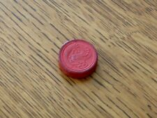 Vintage Wood Red Dragon Replacement Checker