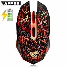 UK NAFFEE Rechargeable Silent Wireless Backlit 2400dpi Optical USB Gaming Mouse