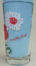 Dianthus Pink Peanut Butter Glass Glasses Drinking Kitchen Mauzy 54-3