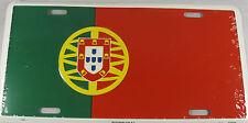 PORTUGAL FLAG METAL LICENSE PLATE PORTUGUESE SIGN L212