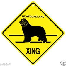 Newfoundland Dog Crossing Xing Sign New Made in USA