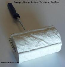 "Concrete Cement Landscape Curbing 7"" Large Stone Brick Texture Roller Stamp New"