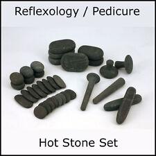 REFLEXOLOGY HOT STONE MASSAGE SET:  34 Basalt Stones
