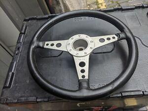 """Vintage Moto lita leather steering wheel Lotus Elan 13"""""""
