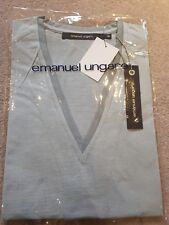 BNWT EMANUEL UNGARO Mens Short Sleeve Light Green Top Size XL 100% Cotton