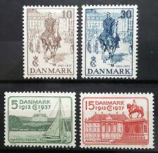 Denmark Stamp 1937 King Christian X 25th Anniversary Scott # 258-261 MINT OG NH