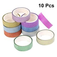 10pcs Shiny Tape Decorative Stickers Masking Tape Wrapping Tape for Scrapbooking
