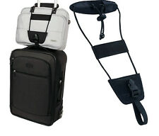 Black Bag Bungee Strap Luggage Backpack Carrier Travel Helper Unisex One Size