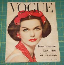 June Vogue 1956 Rare Vintage Vanity Fair Fashion Design Collection Magazine