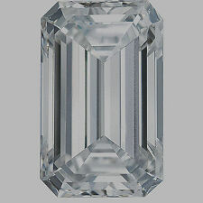 1 carat Emerald cut Diamond GIA G color VVS1 clarity no flour. Excellent loose