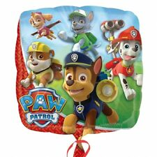 "PAW PATROL HELIUM QUALITY SQUARE FOIL BALLOON 45CM/18"" BIRTHDAY PARTY SUPPLIES"