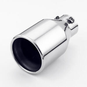 """Bolt On Exhaust Tip 2.25"""" Inlet 4"""" Rolled Out Double Wall Stainless Steel 7"""" L"""
