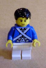 Lego personaje bluecoat Soldier 6-cheek lines, black hair (azul rock mejilla) nuevo