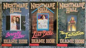 DIANE HOH NIGHTMARE HALL VINTAGE 90s YA HORROR PAPERBACK 3 BOOK LOT #10, 11, 14