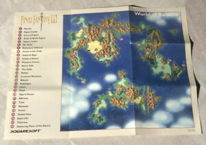 Super Final Fantasy III 3 AUTHENTIC Game MAP ONLY Ruin Balance SNES Nintendo
