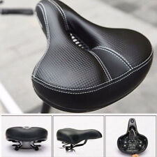 Dual-spring Bike Bicycle Wide Big Bum Soft Extra Comfort Saddle Seat Pad UK
