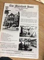 q1-r ephemera 1987 advert skegness hotel the maryland