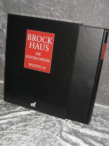 Brockhaus Enzyklopädie Weltatlas 3. Auflage, 2001 zum 21. Jahrhundert Leder TOP