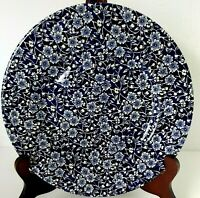 Queens Dinner Plate Calico Blue Floral 10 3/4-in Plate vintage
