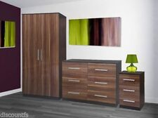 Wood Veneer Wardrobes with Flat Pack