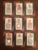 9 Different 2009 Topps Allen & Ginter Game Used Relic Cards