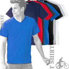 Fruit of the Loom Herren-T-Shirts mit V-Ausschnitt