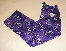 Fremantle Dockers Logo AFL Mens W16 Printed Flannel Sleep Pants Size XL New