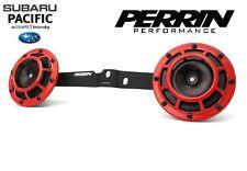 Perrin Mounting Bracket + Pair Hella Supertone Horns for 2008-2014 WRX / STI