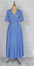 Vintage Dress Gown 80s Retro Victorian Style Evening Wedding Party Boho UK 10/12