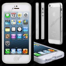 Etui Coque Housse Cover Silicone Gel Souple Sans Design Transparent iPhone 5S 5
