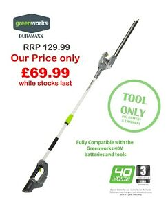 NEW Greenworks Duramaxx Long Reach Hedge Trimmer Tool Only Great Price