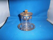 Signed Heisey Covered  Gold & Blue Mayonaise & Underplate